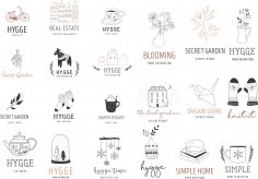 Premade Logo Collection Free Vector