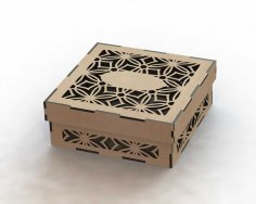 Laser Cut Box Template DXF File