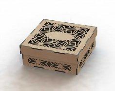 Laser Cut Box Template DXF File
