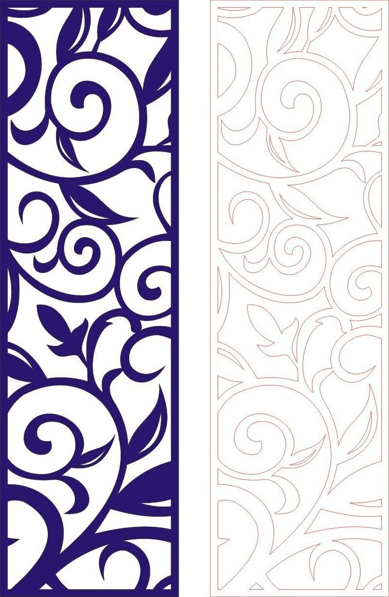 Cutout partition lace floral porch template dxf File