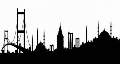 istanbul-silueti dxf File