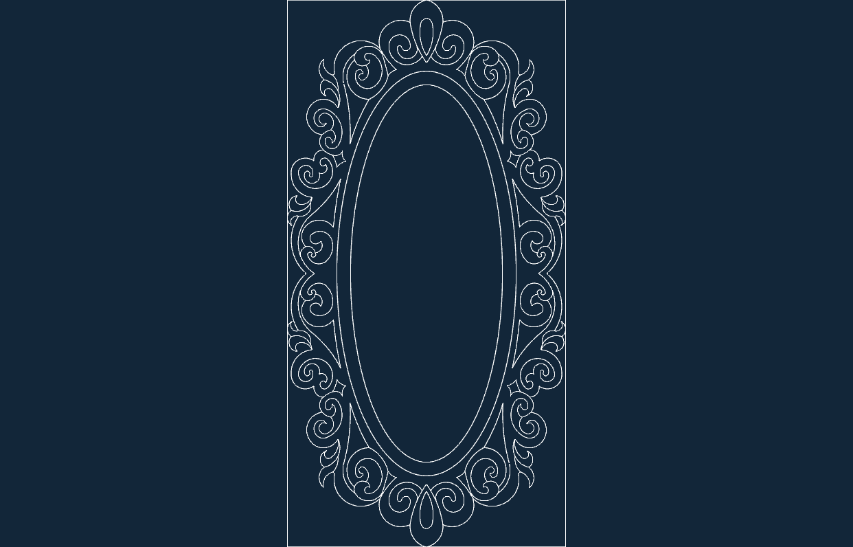 Mirror Frame Dxf File Ayna Free Download 3axis Co