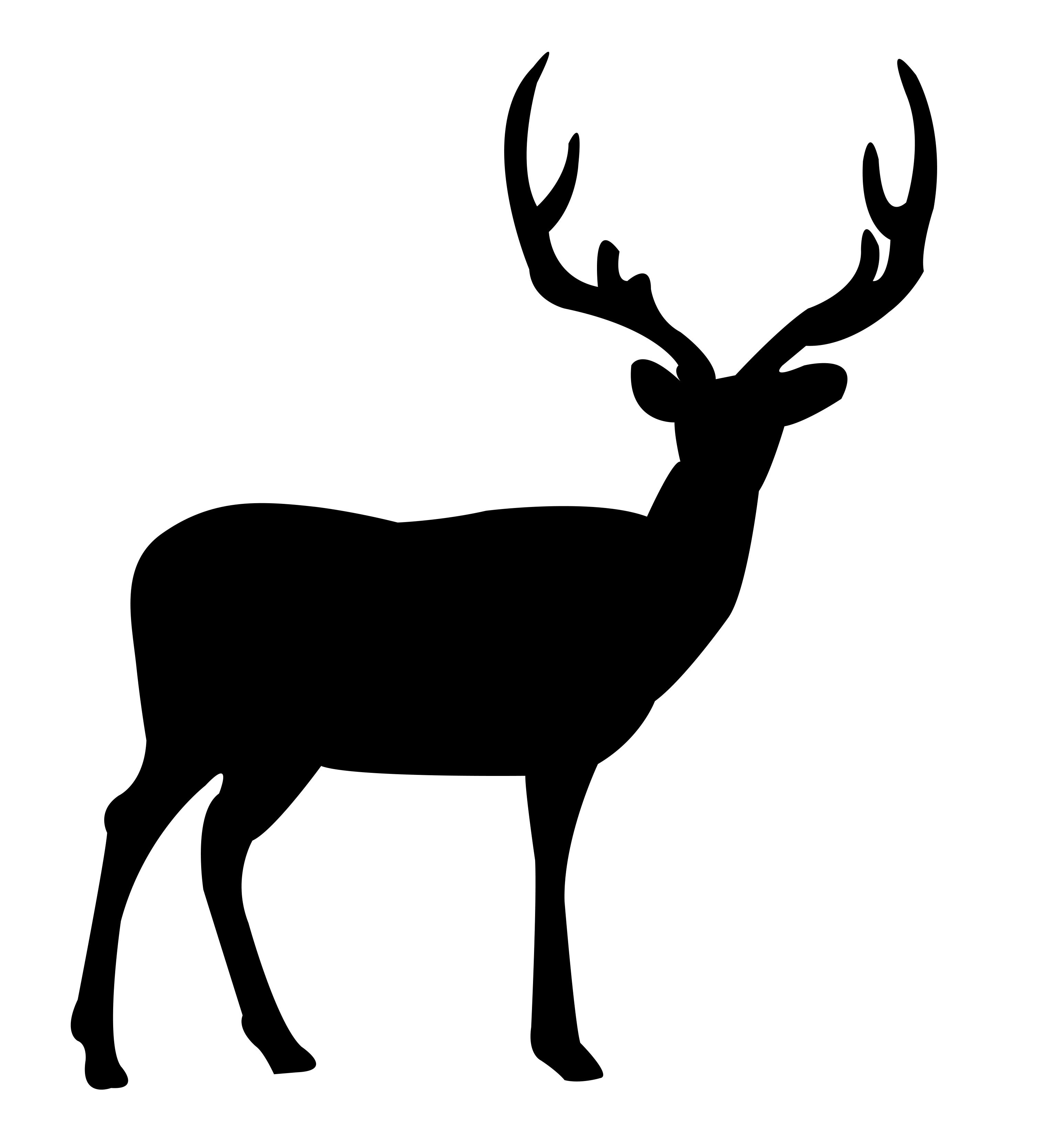 Deer Standing Dxf File Free Download 3axis Co