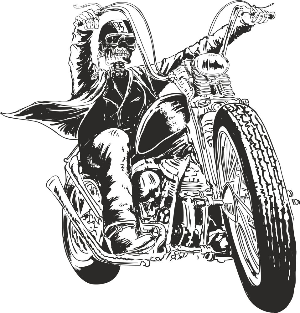 Motorcycle Vector Skull Free Vector