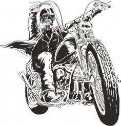 Motorcycle Vector Skull CDR File