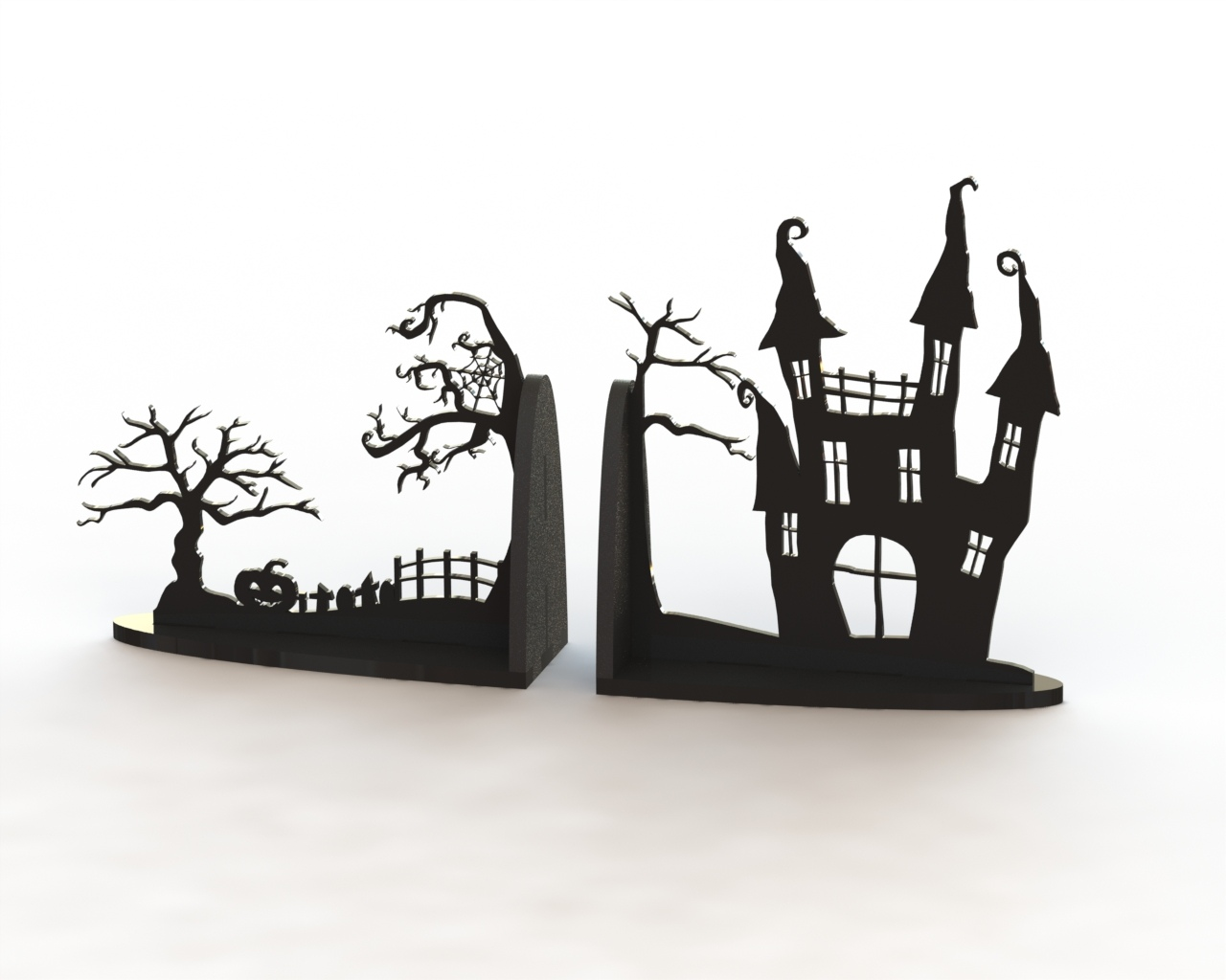 Horror Book Support Laser Cut CDR File