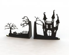 Horror Book Support Laser Cut Free Vector
