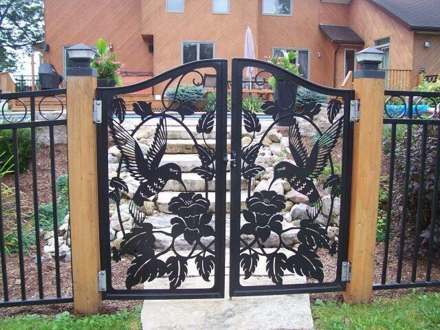 A wonderfully detailed iron gate Free Vector