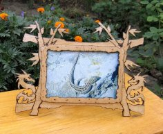 Dragon Picture Frame Design CDR File