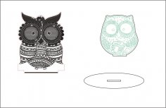 Sleepy-eyed Owl Night Light CDR File