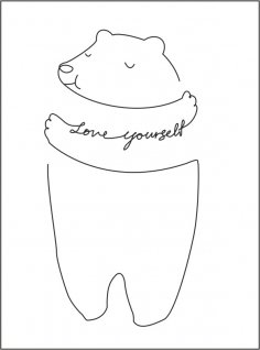 Love Yourself Medved Free Vector