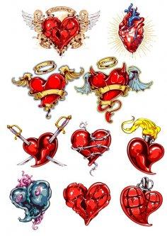 Heart Tatoo Free Vector
