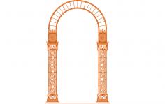 Ornamental Panel 10 dxf File
