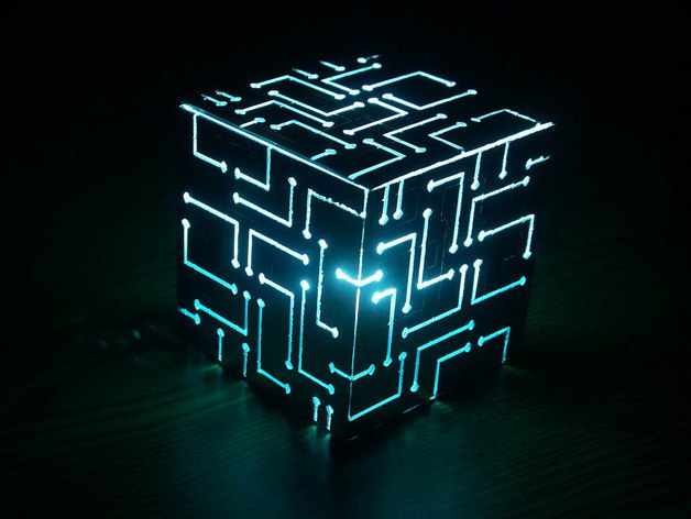 Alien Cube Lamp CDR File