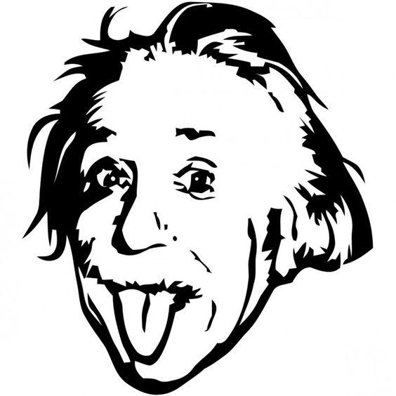 Albert Einstein Genius Meme Stencil dxf File