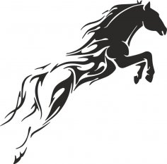 Tribal Horse Unique Tattoo for Men dxf File