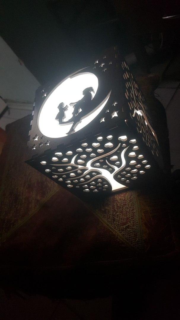 Laser Cut Wood Lamp Shade Free Vector