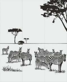 Animals Zebra Sandblast Pattern Free Vector