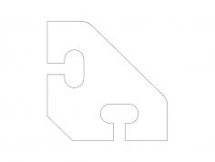 diagonal-brace-37.5×37.5 dxf File