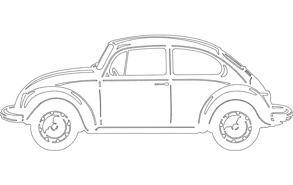 Vw Bug Dxf File Free Download 3axis Co