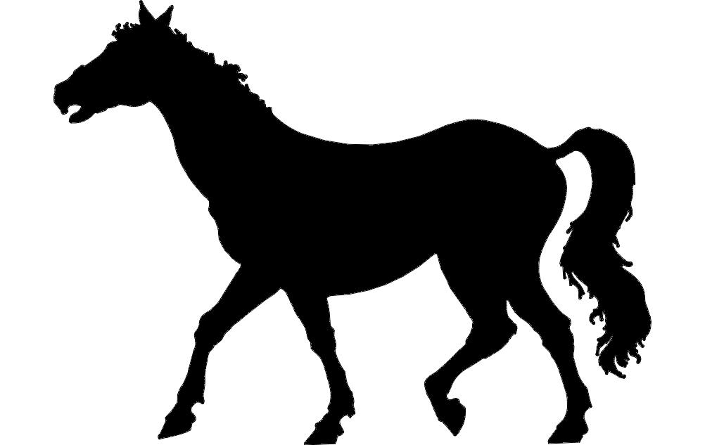 Horse Walking dxf File