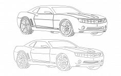 Car 6 dxf File