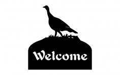 welcome sign turkey dxf File