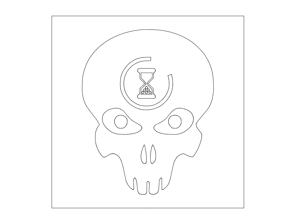halo-3-lag-skull dxf File