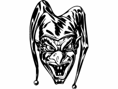 Scary Clown 006 dxf File