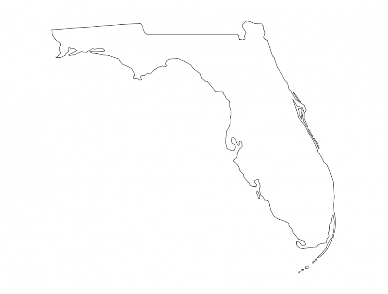 Florida State Map (FL) dxf File