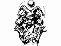 Clown 019 Bw dxf File