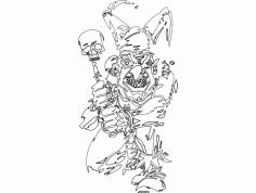 Clown 014 Mask dxf File