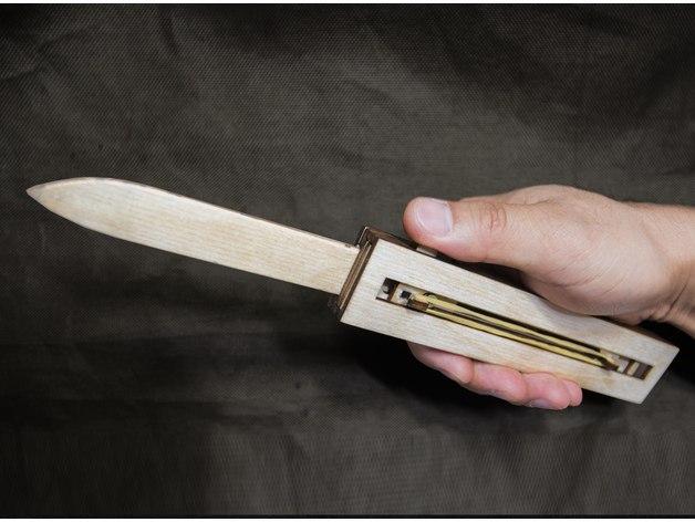 Knife auto dxf File