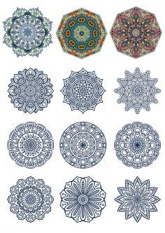 Doodle Circular Pattern Design Mandala Free Vector
