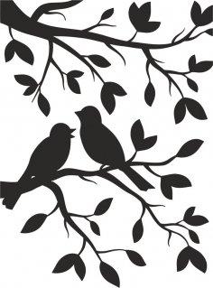 Birds Stencil CDR File