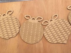 Christmas ornament laser cutting Free Vector