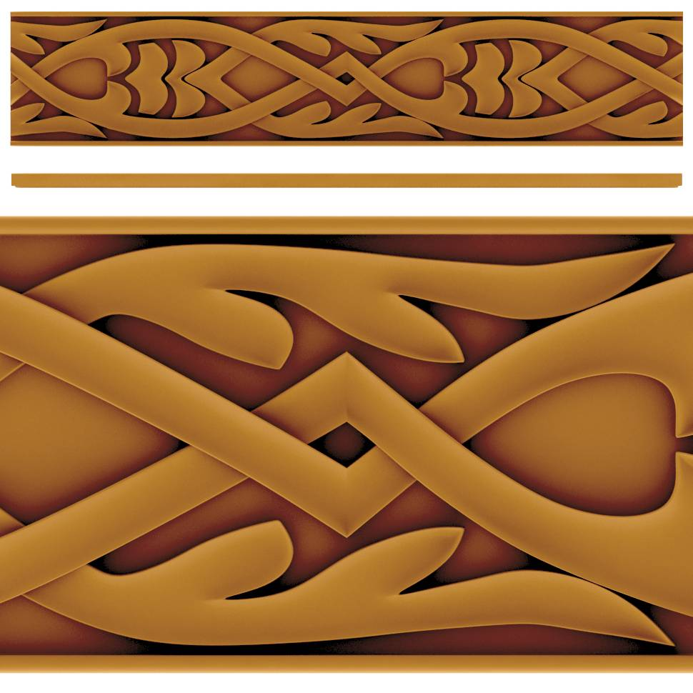 Wood Carving Pattern Design stl File