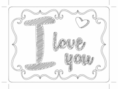 chalk love dxf File
