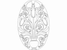 Flowerpot dxf File