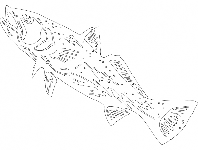 Fish 5 dxf File