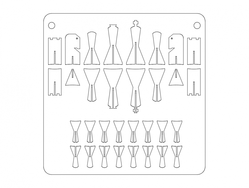 (chess) schach dxf File