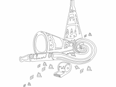 Festive Things 16 dxf File