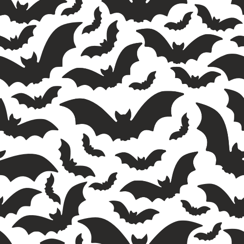 Halloween Pattern With Bats Vector Art DXF File