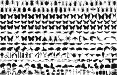 Free Butterfly Silhouette Vector Pack Free Vector