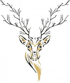 Deer Sketch Free Vector