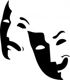 Theater Logo Mask Free Vector