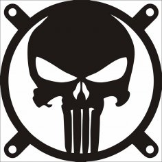 The Punisher Fangrill 120mm X 120mm Free Vector