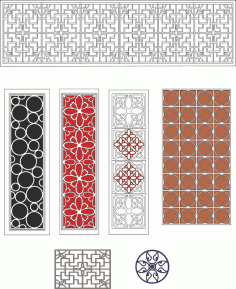 Lattice design collection Free Vector