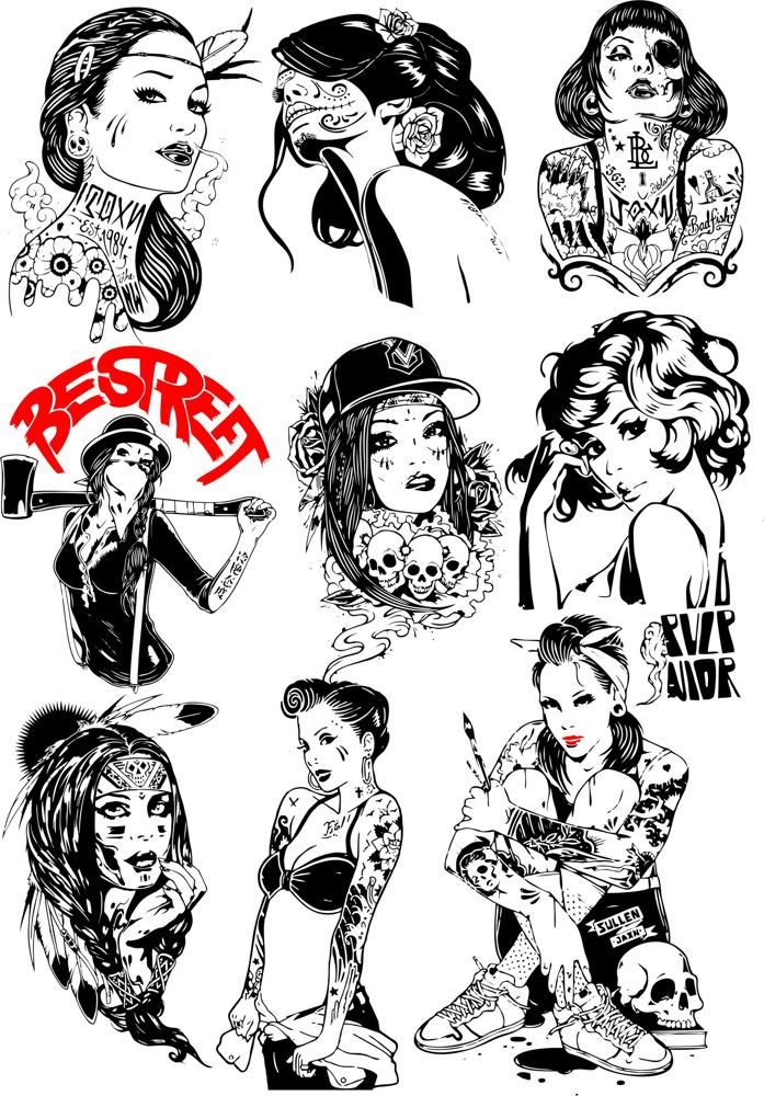 Girls Vector Collection Free Vector