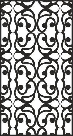 Hollow Engraving Pattern dxf File